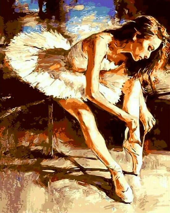 Картина по номерам 40x50 Грациозная балерина