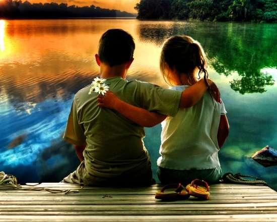 Картина по номерам 40x50 Детская дружба на века
