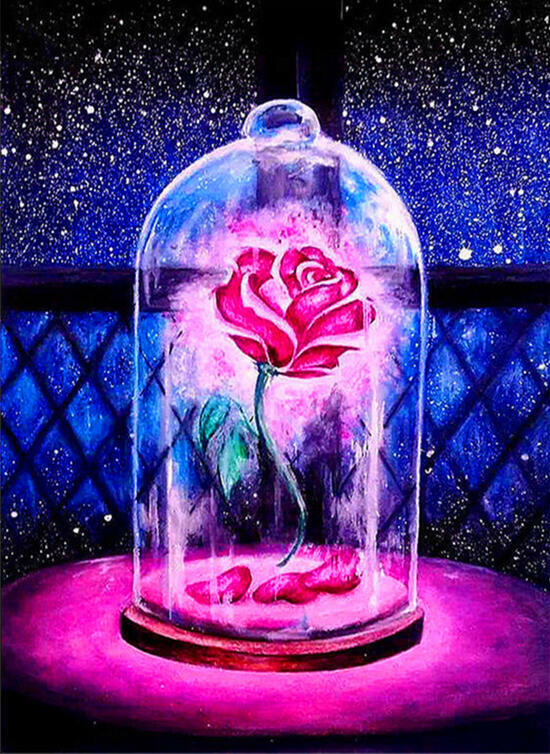 Картина по номерам 40x50 Роза под колпаком