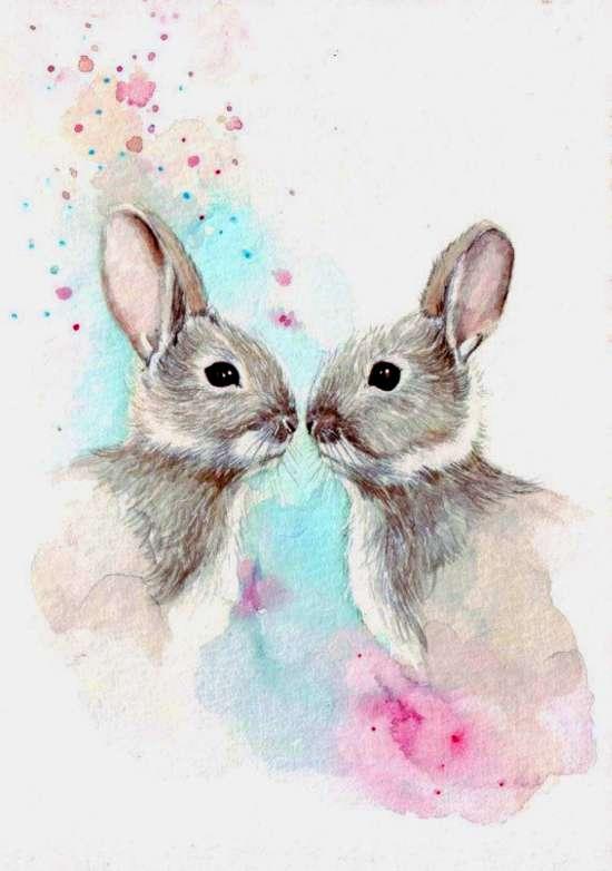 Картина по номерам 40x50 Серые кролики