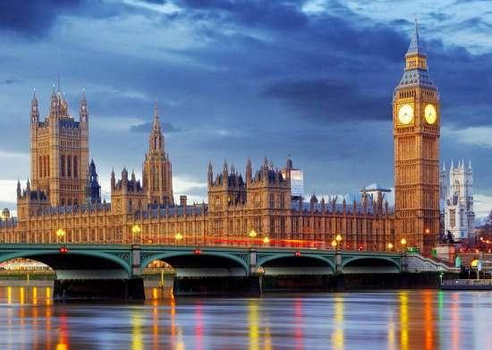 Картина по номерам 40x50 Вид на Вестминстерский дворец
