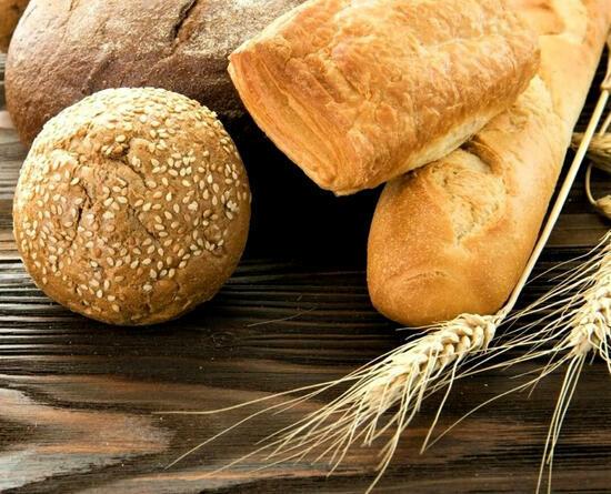 Картина по номерам 40x50 Свежий хлеб и колоски пшеницы