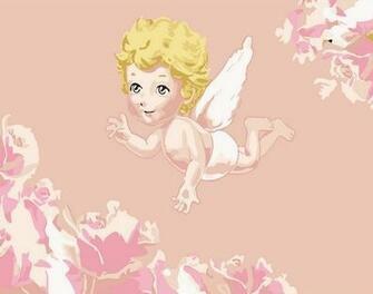 Картина по номерам 20x30 Ангел малыш на розовом фоне