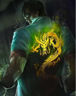 Картина по номерам 30x40 Светящийся дракон на футболке