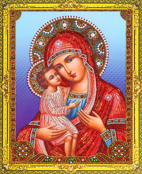 Алмазная мозаика 5D 40x50 Икона Божией Матери Жировицкая