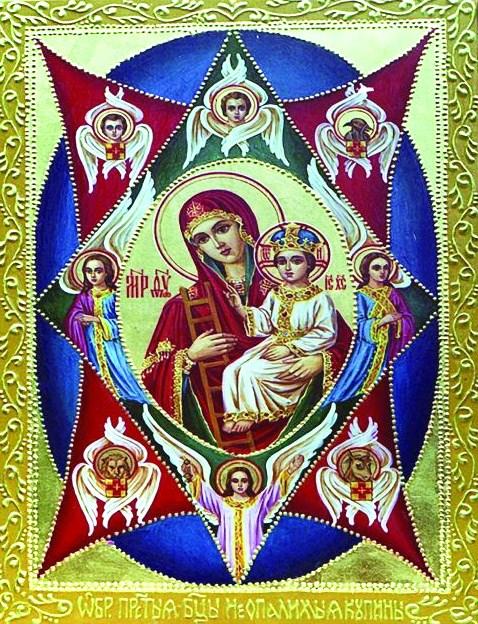 Алмазная мозаика 30x40 Икона Иисус и Богоматерь