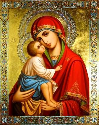Алмазная мозаика 40x50 Пресвятая Богородица с ребенком