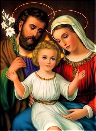 Алмазная мозаика 40x50 Святая семья Иисуса