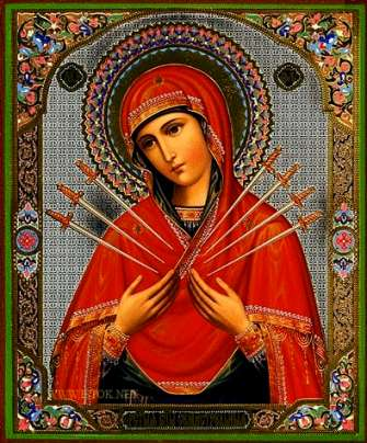 Алмазная мозаика 40x50 Семистрельная Икона Божией Матери