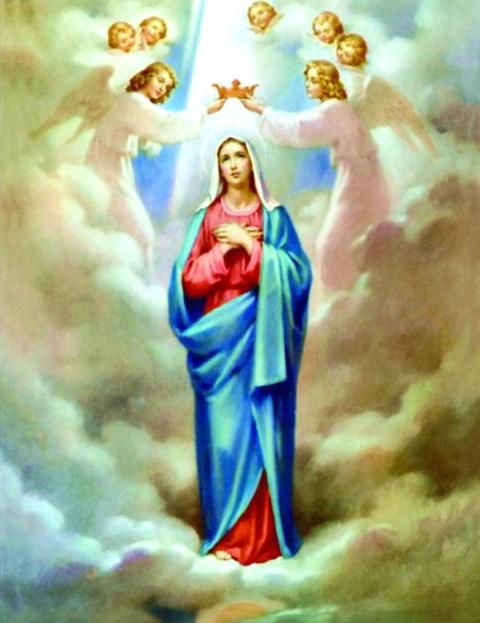 Алмазная мозаика 40x50 Ображ Божией матери и ангелов