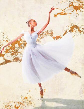 Алмазная мозаика 40x50 Грация в танце балерины