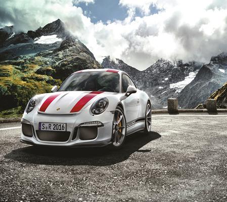 Алмазная мозаика 40x50 Автомобиль Porsche 911 на горной дороге