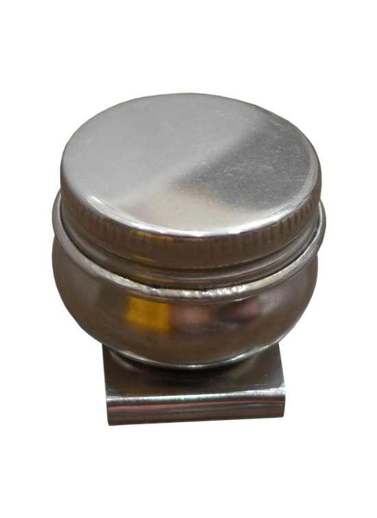 Аксессуар Маслёнка одинарная из нержавеющей стали с крышкой 4,2 см