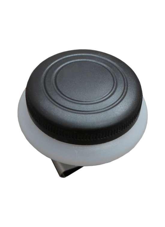 Аксессуар Маслёнка одинарная пластиковая с крышкой 5 см