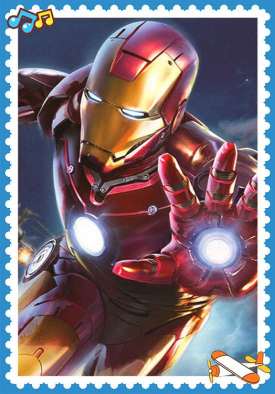 Алмазная мозаика 11x16 Тони Старк в костюме Железного человека
