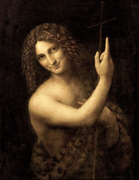 Картина по номерам 40x50 Портрет Иоанна Крестителя