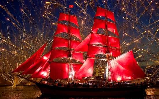 Картина по номерам 40x50 Корабль на ночной прогулке