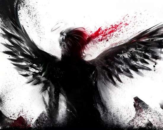 Картина по номерам 40x50 Ангел-смерти