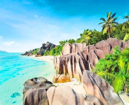 Картина по номерам 40x50 Пляж с большими камнями