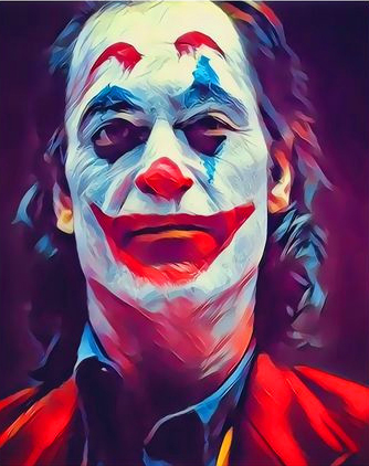 Картина по номерам 40x50 Грустный Джокер