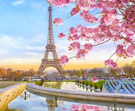 Картина по номерам 40x50 Прелесть весеннего Парижа