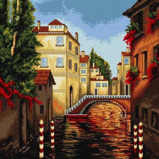 Алмазная мозаика 40x50 Венецианский мостик