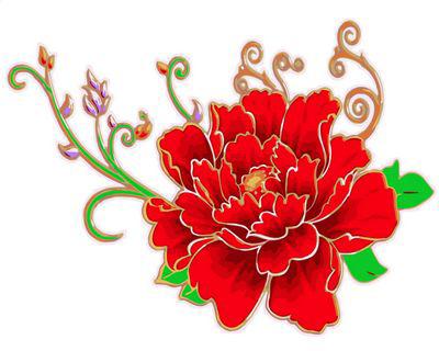 Картина по номерам 20x30 Красный цветок