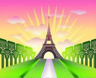 Картина по номерам 20x30 Париж под солнцем