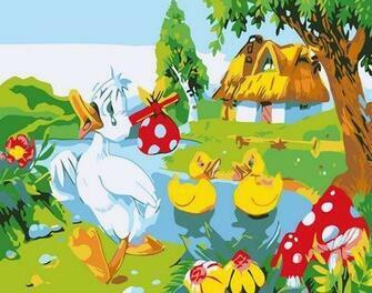 Картина по номерам 20x30 Деревенские заботы
