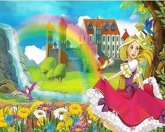 Картина по номерам 20x30 Принцесса возле замка