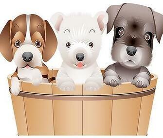 Картина по номерам 20x30 Маленькие собачки