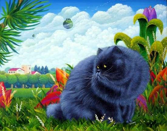 Картина по номерам 40x50 Дымчатый кот