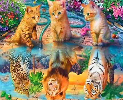 Картина по номерам 30x40 Мечты трех милых котят