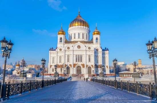 Вышивка крестиком Храм Христа Спасителя в Москве